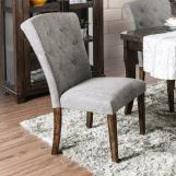 Furniture of America Schoten Side Chair in Gray (Set of 2) CM3450GY-SC-2PK