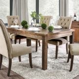 Furniture of America Sania I Dining Table in Rustic Oak CM3324A-T