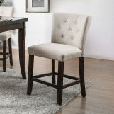 Furniture of America Schoten Counter Ht. Chair in Antique Dark Oak (Set of 2) CM3450PC-2PK