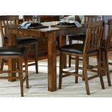 A-America Mariposa Tri- Gathering Table in Rustic Whiskey MRPRW6700