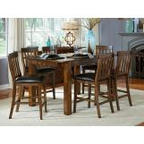 A-America Mariposa Gathering Dining Set in Rustic Whiskey