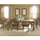 Liberty Furniture Hearthstone 7 Piece Rectangular Leg Dining Set in Rustic Oak