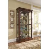 Pulaski Medallion Cherry Two Way Sliding Door Curio