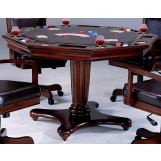 Hillsdale Ambassador Game Table in Medium Brown Cherry 6124-810/811