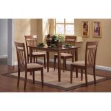 Coaster 5pc Dining Set in Brown 150430
