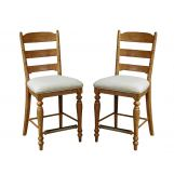 Intercon Furniture Lake House Ladder Back Counter Stool (Set of 2) in Brushed Sand