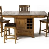 A-America Laurelhurst Gather Height Dining Table w/ Wine Storage in Rustic Oak LAURO6770 CODE:UNIV20 for 20% Off