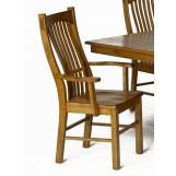 A-America Laurelhurst Slatback Arm Chair in Rustic Oak (Set of 2) LAURO276K CODE:UNIV20 for 20% Off