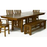 A-America Laurelhurst Trestle Dining Table in Rustic Oak LAURO6320 CODE:UNIV20 for 20% Off