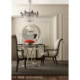 Bernhardt Miramont 5-Piece Round Dining Room Set in Argento Finish