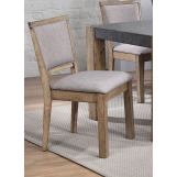 Acme Monolith Side Chair (Set of 2) in Dark Gray/Rustic Oak 74667 EST SHIP TIME IS 4 WEEKS