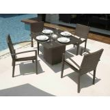 Skyline Design Nevada 5 Piece Square Dining Set in JB Chocolate