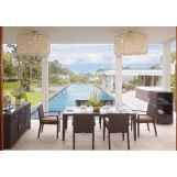 Skyline Design Nevada 7 Piece Rectangular Dining Set in JB Chocolate