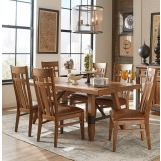 Intercon Furniture River 7-Piece Trestle Dining Room Set in Weathered Sand