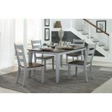 """Intercon Furniture Small Space 6-Piece 18"""" Storing Leaf Dining Room Set in Cherry & Gray"""