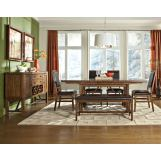 Intercon Furniture Santa Clara 5-Piece Trestle Dining Set in Brandy
