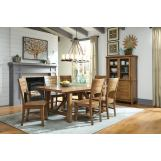 John Thomas Furniture Canyon 7-Piece Extension Dining Room Set in Pecan