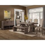 Alpine Furniture Fiji 5-Piece Dining Room Set in Weathered Gray