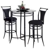 Hillsdale Cierra 3pc Mix 'N' Match Bar Height Bistro Set in Pewter