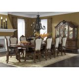 AICO Tuscano Melange 11pcs Rectangular Dining Room Set in Melange