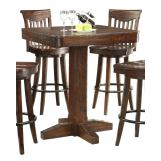 ECI Furniture Gettysburg Pub Table in Dark Distressed 1475-05-PT36-PB36