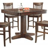 ECI Furniture Gettysburg Gathering Table in Dark Distressed 1475-05-PT44-PB44