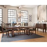 Intercon Furniture Hayden 7-Piece Trestle Dining Set in Rough Sawn/Espresso