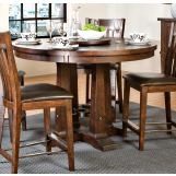 "Intercon Furniture Hayden 54"" Round Gathering Table with Pedestal Base in Rough Sawn/ Espresso"