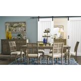 Legends Furniture Laurel Grove 7pc Rectangular Leg Dining Set in Palmetto Dunes