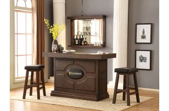 ECI Furniture Guinness 3pcs KD Bar Table Set in Antique Walnut