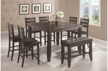 Coaster Dalila 7-pc Counter Height Dining Set in Cappuccino 102728S
