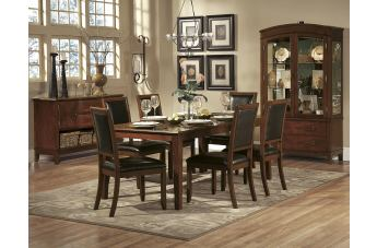 Homelegance Avalon 7pc Dining Table Set in Cherry