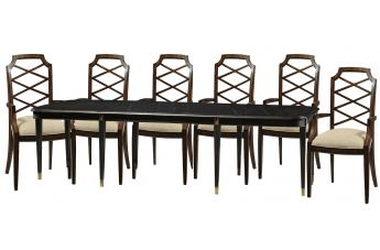 Fine Furniture Humphrey Bogart 7pc Hollywood and Vine Dining Set in Chessboard