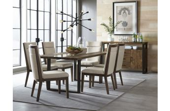 Standard Furniture Dumont 7-Piece Dining Table Set in Brown