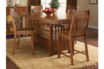 A-America Laurelhurst Gathering Height Dining Set in Mission Oak CODE:UNIV20 for 20% Off