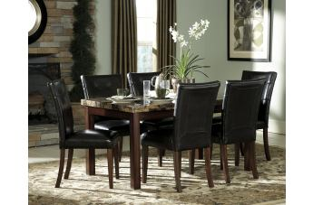 Homelegance Achillea 5pc Counter Height Table Set in Cherry