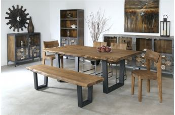 Coast to Coast Imports Sequoia 6-Piece Dining Set in Light Brown