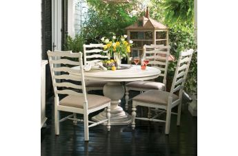 Paula Deen Home 5-pc Pedestal Set w/Mike's Chairs in Linen CODE:UNIV20 for 20% Off