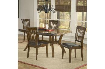 Hillsdale Arbor Hill 5pc Extendable Dining Room Set in Colonial Chestnut