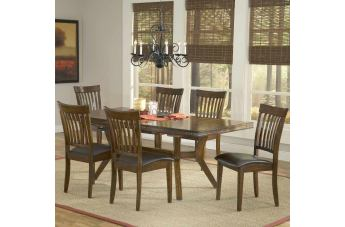 Hillsdale Arbor Hill 7pc Extendable Dining Room Set in Colonial Chestnut