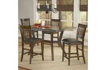Hillsdale Arbor Hill 5pc Counter Height Dining Room Set in Colonial Chestnut