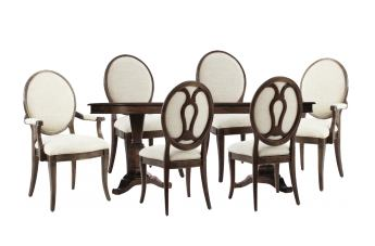 A.R.T Furniture St. Germain 7-Piece Double Pedestal Dining Set in Coffee/ Foxtail
