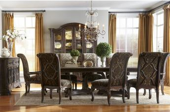 A.R.T Gables 9pc Rectangular Double Pedestal Dining Set in Cherry