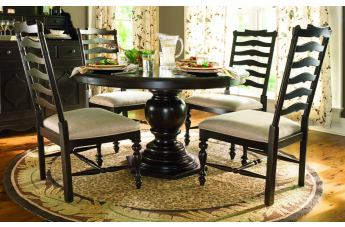 Paula Deen Home 5-pc Pedestal Set w/Mike's Chairs in Tobacco CODE:UNIV20 for 20% Off