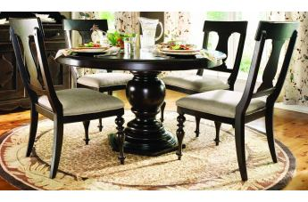 Paula Deen Home 5-pc Round Pedestal Dining Set in Tobacco CODE:UNIV20 for 20% Off