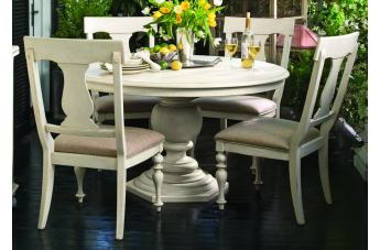 Paula Deen Home 5-pc Round Pedestal Dining Set in Linen CODE:UNIV20 for 20% Off