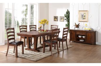 New Classic Furniture Lanesboro 7-Piece Dining Table Set in Distressed CLOSEOUT