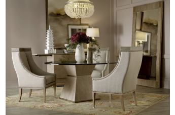 A.R.T. Cityscapes 5pc Hancock Round Dining Room Set in Stone
