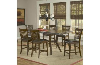 Hillsdale Arbor Hill 7pc Counter Height Dining Room Set in Colonial Chestnut