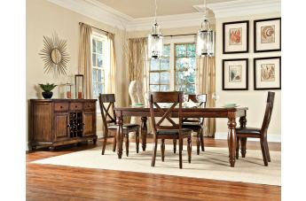 Intercon Furniture Kingston 5-Piece Butterfly Leaf Dining Room Set in Raisin